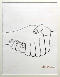 ベン・シャーン「思いがけぬ邂逅」版画